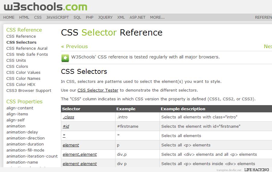 w3school.css.selector